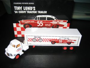 1950 Tiny Lund #55 ERTL Founding Fathers DieCast Transporter