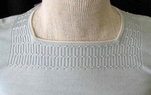 Petite Sophisticate Baby Blue Silk Sweater w/pearl details, sz P,  NWT!