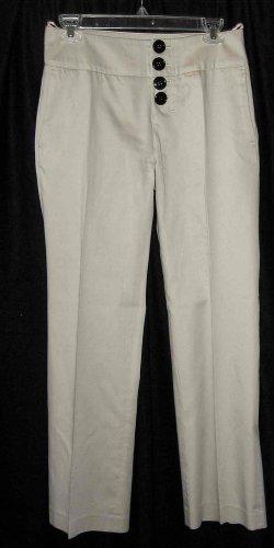 METROSTYLE Below Waist Khaki Pants w/black buttons Sz 4