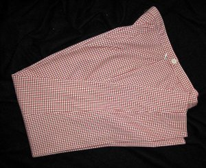 EXPRESS Slim Fitting Red & White check pants Sz PS !!