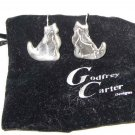 GODFREY CARTER Handmade Silver Cat Earrings - New!!