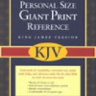 KJV Personal Giant Print Reference Bible Black Imitation Leather