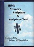 Bible Memory Scripture Pamphlet & Scripture Test 12.99