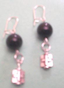 Black cross earrings $4.30