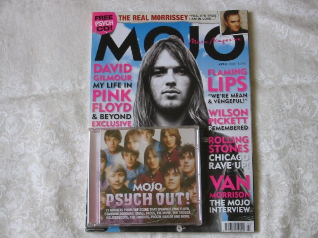 Mojo 149. David Gilmour � My Life in Pink Floyd. Van Morrison interview. 15 track psychedelic CD.