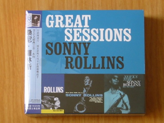 SONNY ROLLINS - Great Sessions - New and sealed  3CD pack.