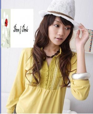 Yellow Cotton Jersey Top