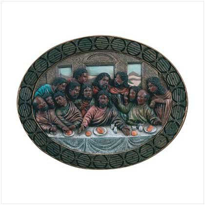 #  30088  Last Supper oval plaque