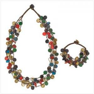 #  39117  High-fashion necklace and bracelet set