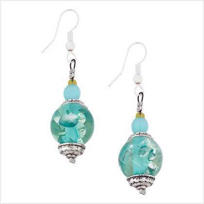 #  39119  Ice-blue crystalline Earrings