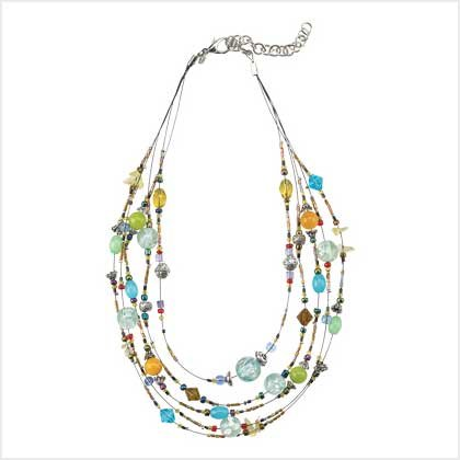 #   39118 Crystal-clear faux-gemstone necklace