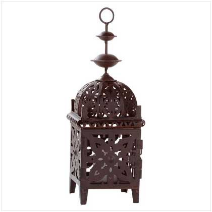 #31574 Moroccan style metal candle lantern