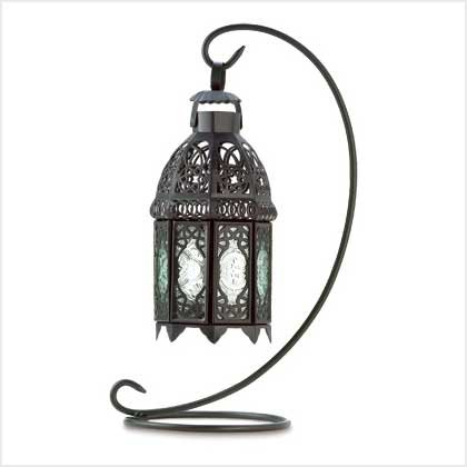 #38566 Moroccan metalwork lantern