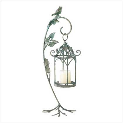 #39070 Wrought iron birdcage-style candle cradle