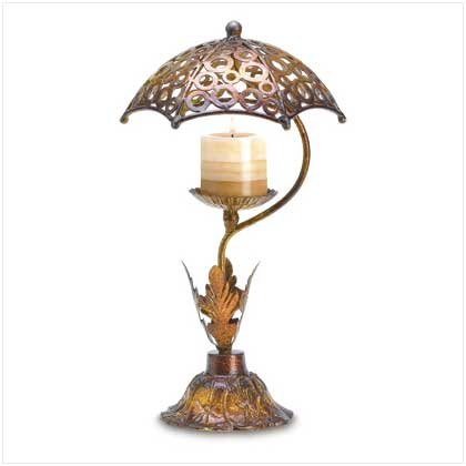 #38597 Umbrella shade with lacework of shadow candle holder