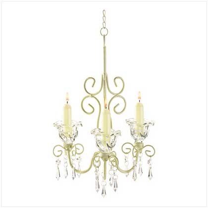 #38369 Sparkling flowers and crystalline drops chandelier