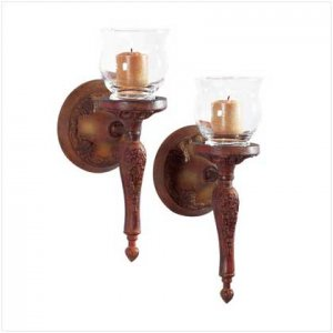 #32368 Pair Liberty Bronze Collection wall sconces