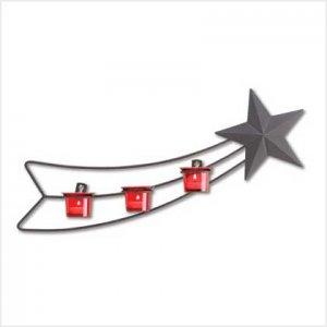 #38608 Whimsical shooting-star metal wall sculpture
