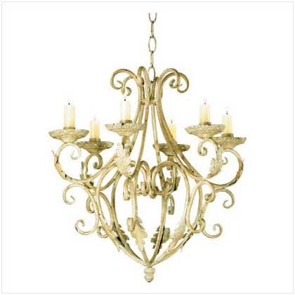 #35601 Wrought iron elegant candle-holder chandelier