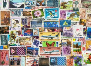 Asia 1000 stamps off paper Luxury mix