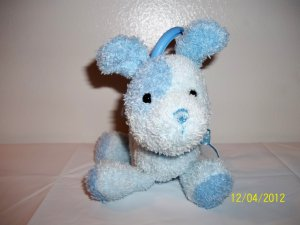Carter's Blue Puppy Dog Crib Pull Toy Lovey Plush
