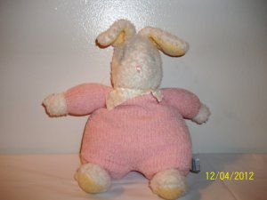 Carter's Classic Pink Thermal Bunny Rabbit Lovey Doll
