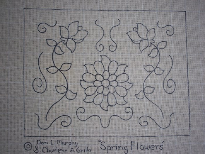 Spring Flowers rug hooking pattern