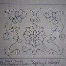 Spring Flowers rug hooking pattern