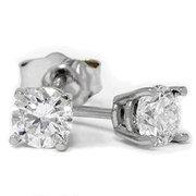 14k White Gold .50ct Diamond Stud Earrings
