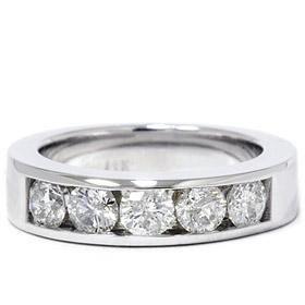 14k White Gold 1.25ct Diamond Wedding Ring