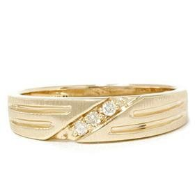 14k Yellow Gold .12CT Men's Diamond Ring