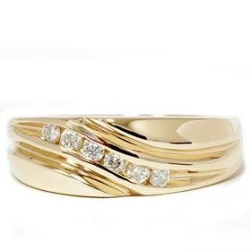 Men's 14k Yellow Gold .25ct Diamond Ring