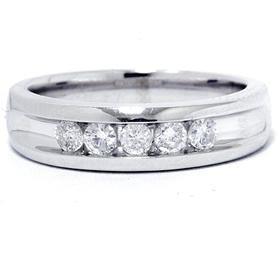 Men's 14K White Gold .50 Ct. Brilliant Diamond Ring