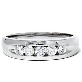 14k White Gold .75CT SI Diamond Ring
