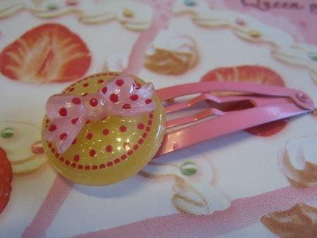 Dots and Ribbon - Yellow and Pink