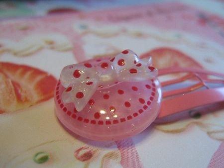 Dots and Ribbon - Pink and Pink