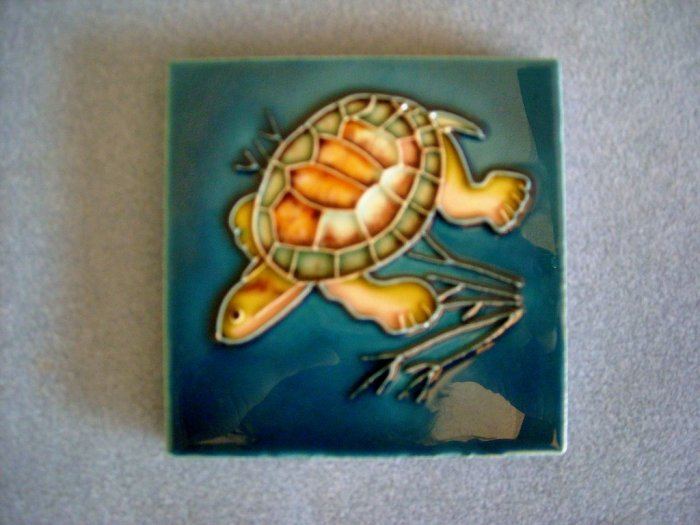 Ceramic Turtle Tile Coaster