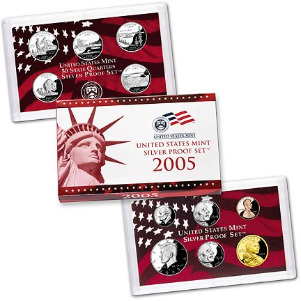 2005 Silver Proof Set - with original government packaging