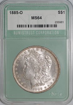 1885-O Morgan Dollar NTC MS64 - af0