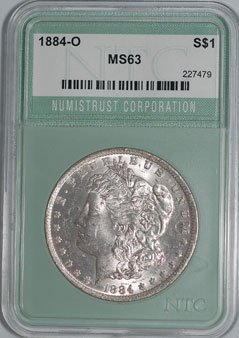 1884-O Morgan Dollar NTC MS63