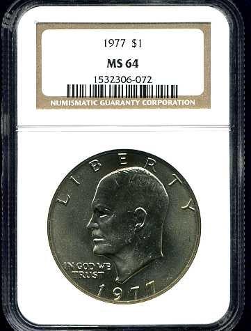 1977 Eisenhower Dollar NGC MS64