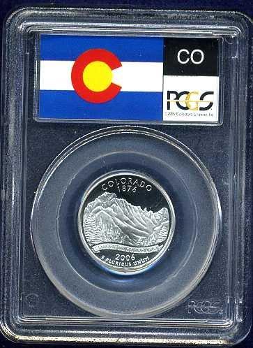2006-S Clad Colorado Quarter PCGS PR69DCAM Flag Holder