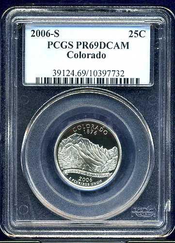 2006-S Clad Colorado Statehood Quarter PCGS PR69DCAM