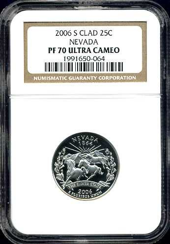 2006-S Proof Clad Nevada Quarter NGC PF70UCAM