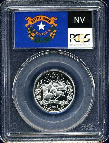 2006-S Clad Nevada Quarter PCGS PR69DCAM Flag Holder