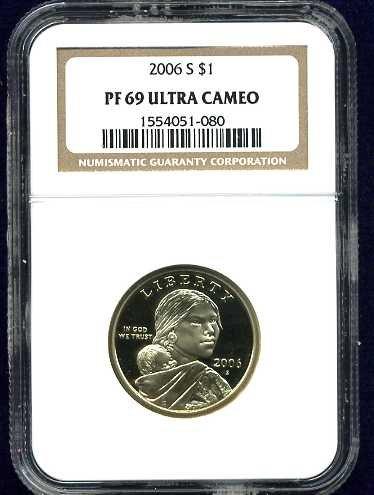2006-S Sacagawea Golden Dollar NGC PF69UCAM