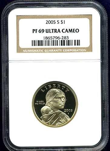 2005-S Sacagawea Golden Dollar NGC PF69UCAM