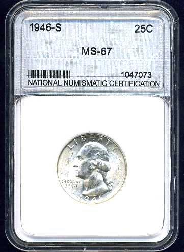 1946-S Washington Quarter NNC MS67 Super Gem
