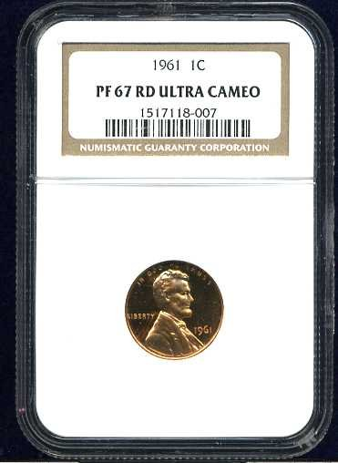 1961 Proof Lincoln Cent NGC PF67UCAM