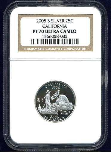 2005-S Silver California Quarter NGC PF70UCAM